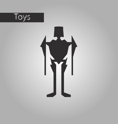 black and white style icon toy robot vector image