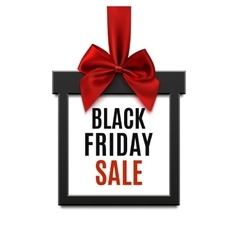 Black Friday sale square banner vector