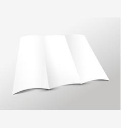 Blank trifold leaflet vector