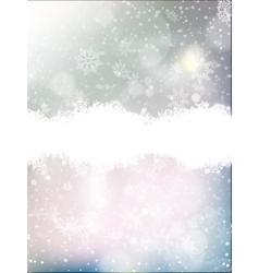 Blue background with snowflakes EPS 10 vector image