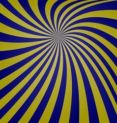 Blue yellow spiral design vector