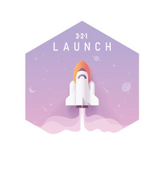 Business startup concept rocket launch vector