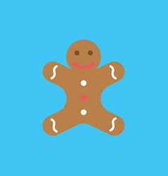 christmas cookie icon flat style vector image