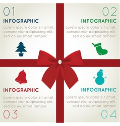 Christmas infographics vector