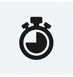 chronometer icon on transparent background vector image