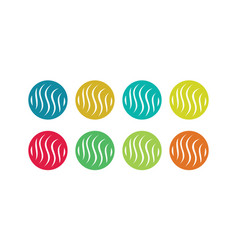 circle letter s colored logo vector image