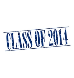 Class of 2014 blue grunge vintage stamp isolated vector