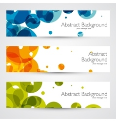 Colorful geometric abstract banners vector image