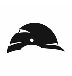 Construction helmet icon simple style vector