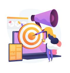 Content marketing concept metaphor vector