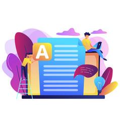 copywriting concept vector image