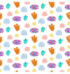 coral reef seamless pattern vector image
