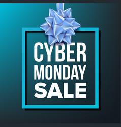 Cyber monday sale banner november cyber vector