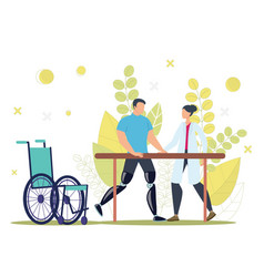 Disabled people functional rehabilitation vector