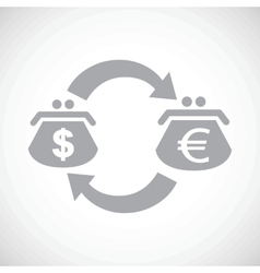 Dollar euro exchange black icon vector image
