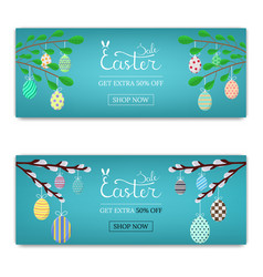 easter sale discount calligraphy lettering vector image