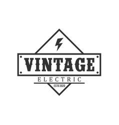 Electrical voltage logo vintage simple minimalist vector