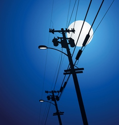 Electricity post vector