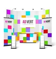 Exhibition Stand Bright Design vector