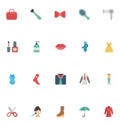 Fashion flat icons 2 vector