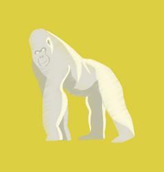 Flat shading style icon gorilla vector