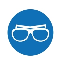 glasses vacations accesory icon vector image