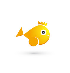goldfish with crown vector image
