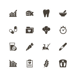 healthy lifestyle - flat icons vector image