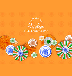 india independence day badge decoration card vector image