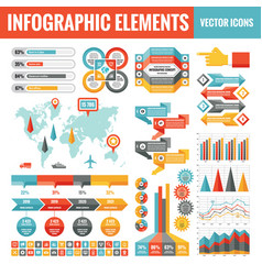 Infographic elements template collection vector