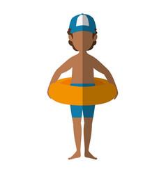 Isolated standing man cartoon vector