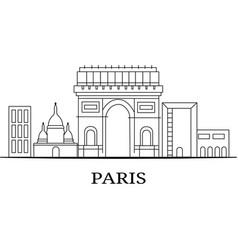 Landscape city silhouette vector