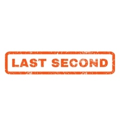 Last Second Rubber Stamp vector image