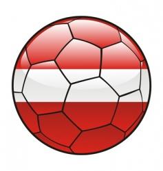 Latvia flag on soccer ball vector