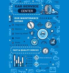 Maintenance repair car diagnostics service vector