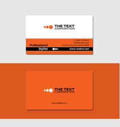 Makeup artist business card vector