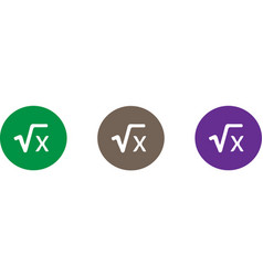 mathematic icon isolated on background vector image
