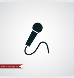 Microphone icon simple vector