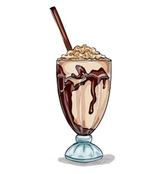 Milk shake cocktail color picture vector