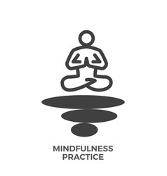 Mindfulness practice glyph icon vector