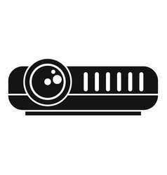 Modern projector icon simple style vector