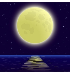 moon over sea vector image
