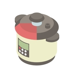 Multi cooker icon in cartoon style vector