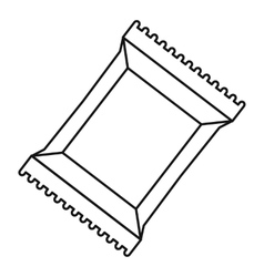 Napkins pack icon outline style vector
