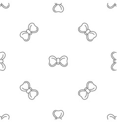 new bow tie pattern seamless vector image