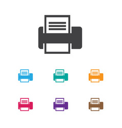 Of office symbol on printer vector
