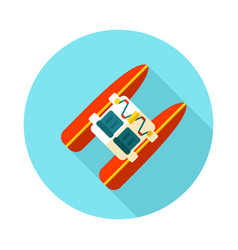 Pedalo boat beach icon summer vacation vector