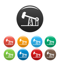 petrol extract icons set color vector image