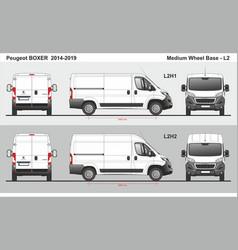Peugeot boxer cargo delivery van l2 2014-2019 vector