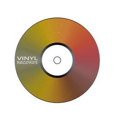 Poster vinyl player record music label logo vector